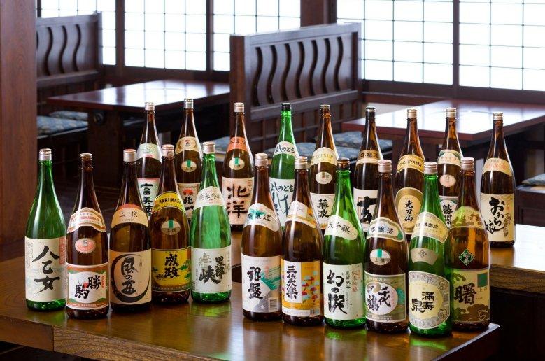 氷見港直送海鮮料理の宿 女岩荘 富山県内おすすめの地酒をご用意 幻の名酒「勝駒」も