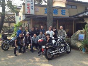 海辺の民宿 女岩荘には毎年たくさんのバイクツーリングにお越しになります
