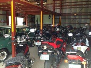 海辺の宿 女岩荘があなたの愛車を車庫保管 バイクツーリングに最適